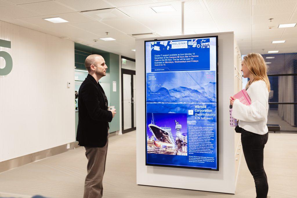 digital signage internal communications