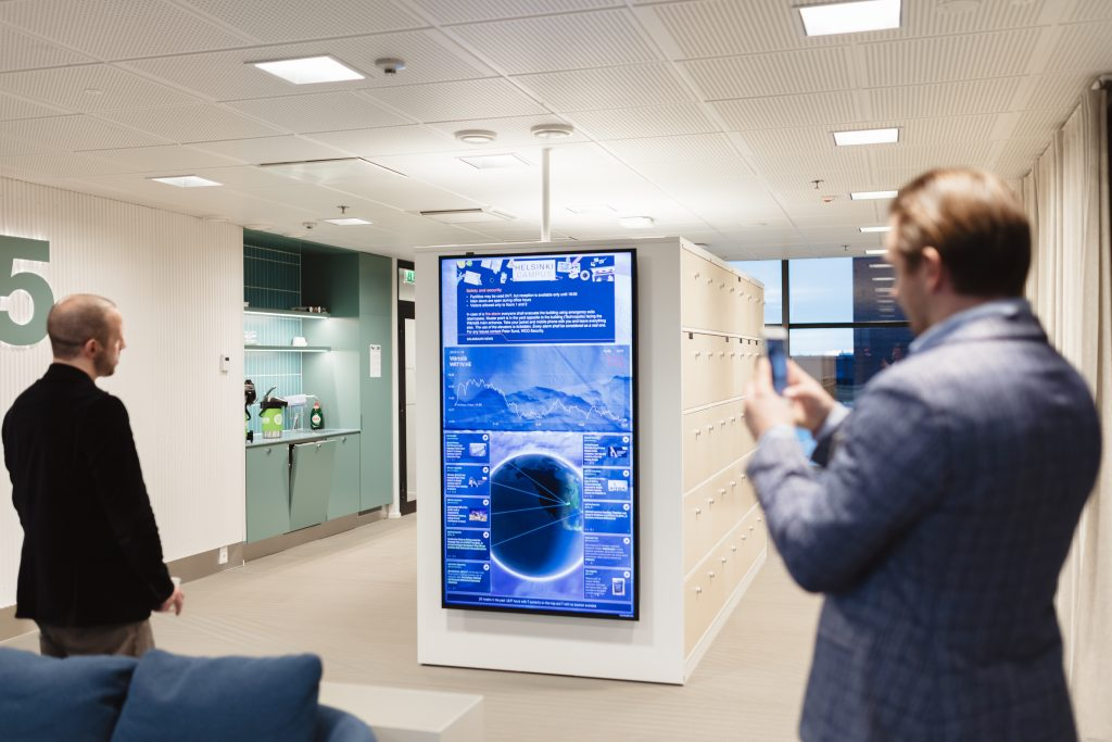 Digital Signage software in use in office