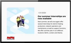SharePoint News on Digital Signage