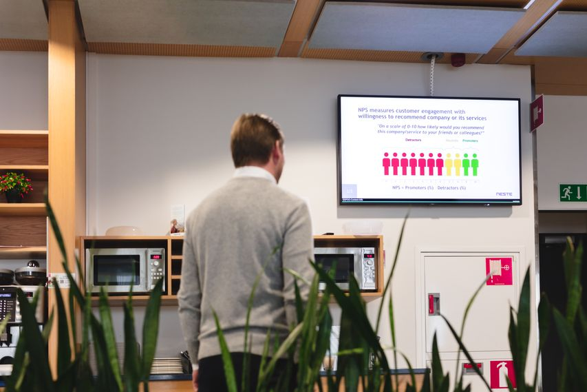 Net Promoter Score on Digital Signage in the office