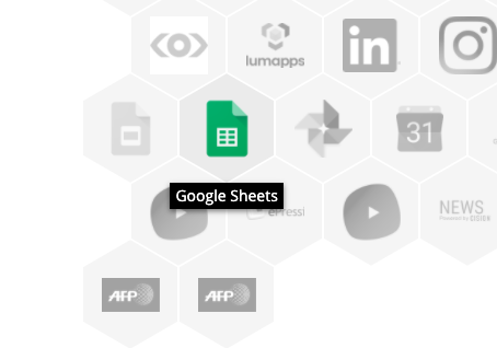 google sheets app icon in Valotalive