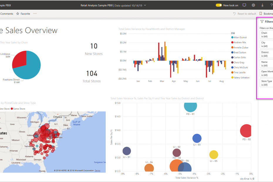 Power BI Filters for Digital Signage