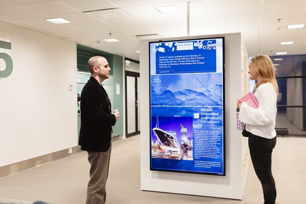 Valotalive workplace digital signage software works with most common platforms and systems you're already using in the office