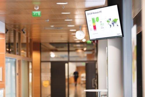 Digital Signage display in lobby