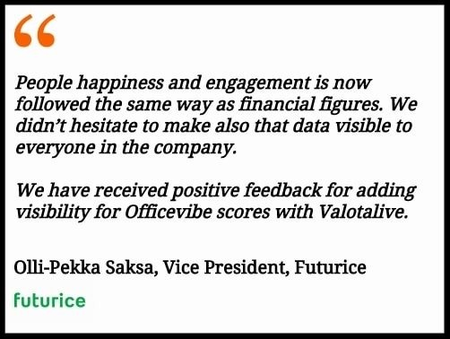 Quote from Futurice