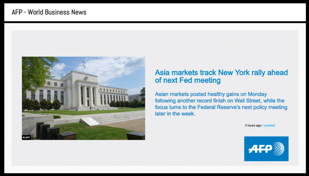 Global news on digital signage - content by AFP
